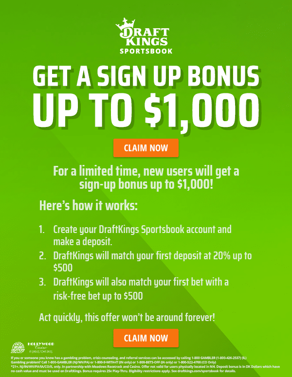 draftkings sportsbook promo code for sign up bonus